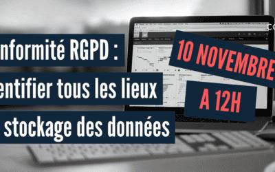 Webinaire : Comment identifier tous les lieux de stockage des données pour la conformité RGPD 10/11