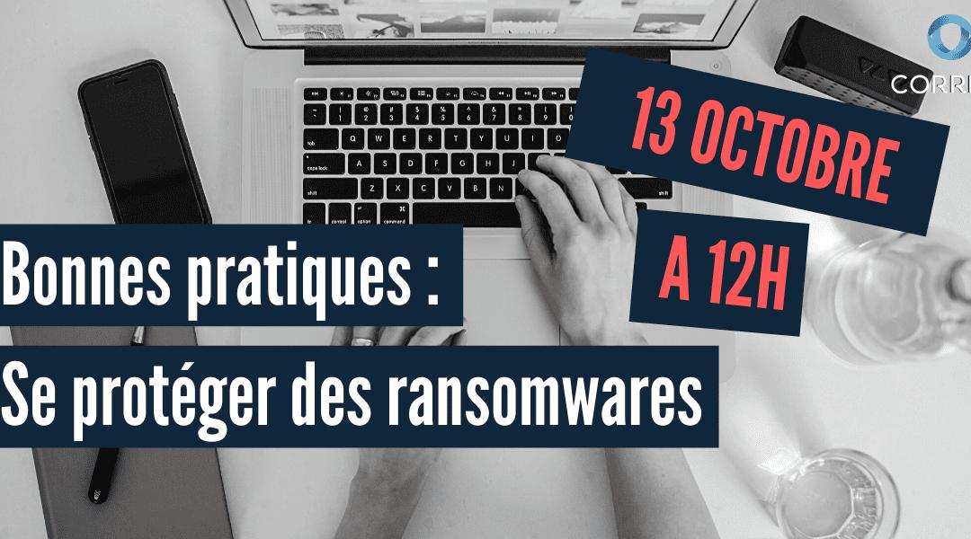 Webinaire : Se protéger des ransomwares 13/10