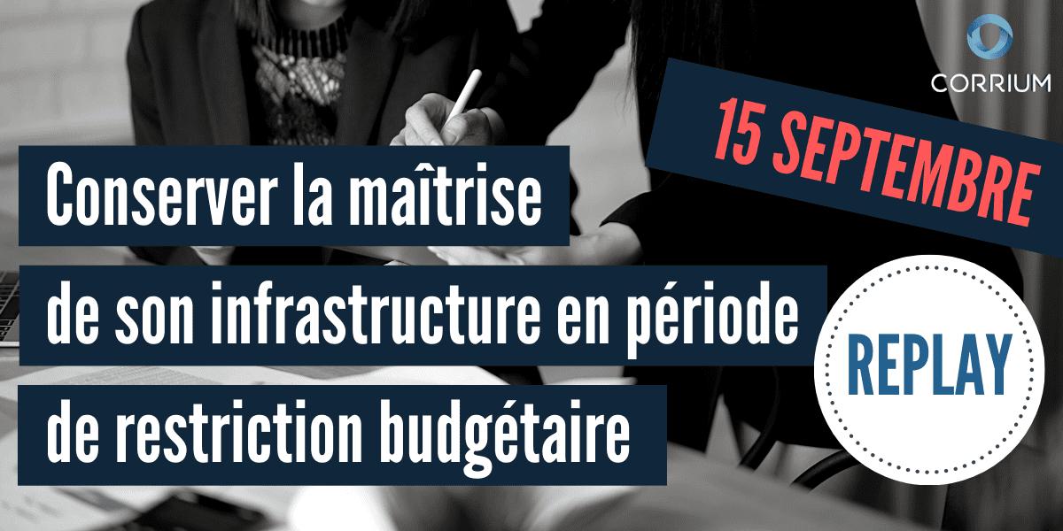 Conserver la maîtrise de son infrastructure durant une restriction budgétaire : méthode organisationnelle
